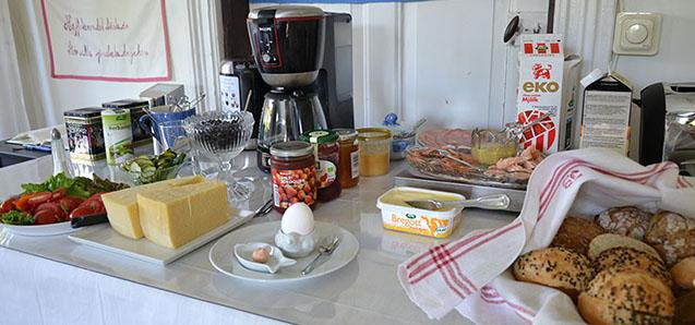 Ekologisk frukostbuffé