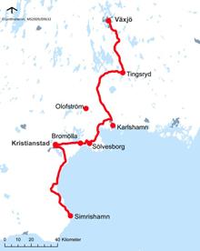 sydostleden-karta